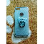 TPU กากเพชร (มีเเหวนตั้งได้) iphone7/iphone8(ใช้เคสตัวเดียวกัน) สีเงิน