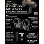 New.ชุดพับพายท้าย M4 Law Tactical AR-15 Folding Stock Adapter for Cmmg/ AEG/GBB M4/M16/SR25 ราคาพิเศษ