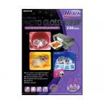 Hi-Jet Photo Glossy Paper 230 Gsm. (A4) (A4/100 Sheets)