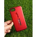 2ชั้นกันกระแทกมีที่คล้องนิ้ว iphone7/iphone8(ใช้เคสตัวเดียวกัน) สีแดง