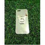 TPU โครเมี่ยมพร้อมแหวน iphone5/5s/se สีเงิน