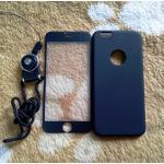PC พร้อมกระจกสี(มีสายห้อยคอ) iphone6/6s สีดำ
