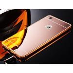 BP.อลูมิเนียมหลังสไลด์ Mirror Huawei P8 สีชมพู