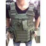 New.เสื้อเกราะ Tactical มาพรัอมอุปกรณ์ใส่แม็กพร้อม สีเขียว