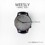 นาฬิกาข้อมือ หน้าปัดเล็ก สายหนังสีดำ รุ่น WEESLY นาฬิกาข้อมือผู้หญิง