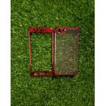 TPU ประกบหน้าหลังโครเมี่ยม Oppo A77(F3) สีแดง