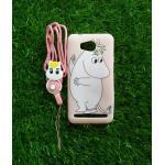 TPU moomin พร้อมสาย Huawei Y3II(Y32) ลายม้าขาวสีชมพู