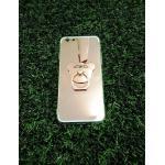 TPU โครเมี่ยมพร้อมแหวน iphone6/6s สีชมพู