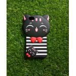 ซิลิโคนแมวนำโชค(ใหม่) Oppo A77(F3) สีดำ