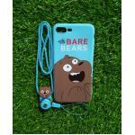 TPU moomin พร้อมสาย iphone7 plus/iphone8 plus(ใช้เคสตัวเดียวกัน) ลายหมีน้ำตาลสีฟ้า