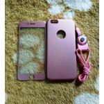 PC พร้อมกระจกสี(มีสายห้อยคอ) iphone6/6s สีชมพู