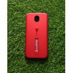 2ชั้นกันกระแทกมีที่คล้องนิ้ว J7 Pro สีแดง