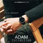 นาฬิกาข้อมือ รุ่น ADAM หน้าปัดดำ สายสีดำ