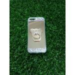 Tpu โครเมี่ยมประดับเพชรหัวท้าย(มีแหวน) iPhone5/5s/5se สี Rose Gold