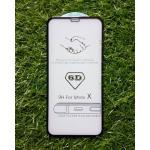 ฟิล์มกระจกนิรภัยคุณภาพดี(เต็มจอ) iphoneX สี Black