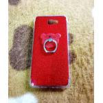 TPU กากเพชร (มีเเหวนตั้งได้) J7 prime สีแดง