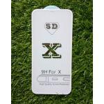 ฟิล์มกระจกนิรภัยคุณภาพดี(เต็มจอ) iphoneX สี White
