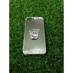 Tpu โครเมี่ยมประดับเพชรหัวท้าย(มีแหวน) iPhone7 plus สีเงิน