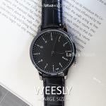 นาฬิกาข้อมือ หน้าปัดใหญ่ รุ่น WEESLY สีดำล้วน