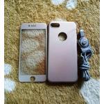PC พร้อมกระจกสี(มีสายห้อยคอ) iphone7/iphone8(ใช้เคสตัวเดียวกัน) สีทอง