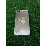 Tpu โครเมี่ยมประดับเพชรหัวท้าย(มีแหวน) iPhone7 plus สีทอง