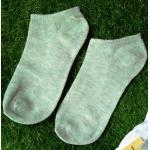 ถุงเท้าสีพื้น คุณภาพดี (Free Size) 1คู่ สีเขียว