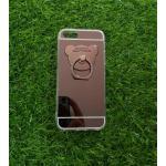 TPU โครเมี่ยมพร้อมแหวนขีดขาวบนล่าง 2 เส้น iphone5/5s/se สีดำ