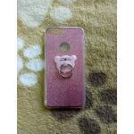 TPU กากเพชร (มีเเหวนตั้งได้) iphone7 plus/iphone8 plus(ใช้เคสตัวเดียวกัน) สีชมพู