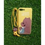 TPU moomin พร้อมสาย iphone7 plus /iphone8 plus(ใช้เคสตัวเดียวกัน)ลายหมีน้ำตาลสีเหลือง