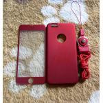 PC พร้อมกระจกสี(มีสายห้อยคอ) iphone6/6s สีแดง
