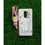 TPU moomin พร้อมสาย Huawei GR5(2017)(6X) ลายม้าขาวสีชมพู