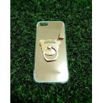 TPU โครเมี่ยมพร้อมแหวน iphone5/5s/se สีชมพู