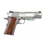 New.CoLt. 1911. Co2 cyber Gun. รางล่าง กริ๊บไม้ เฟรมเนื่อทรายเทา สไลด์เงิน ราคาพิเศษ