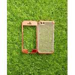 TPU ประกบหน้าหลังโครเมี่ยม iphone5/5s/se สีPink Gold
