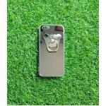 TPU โครเมี่ยมพร้อมแหวน(NEW) iphone5/5s/se สีเงิน