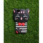 ซิลิโคนแมวนำโชค(ใหม่) Oppo R9S สีดำ