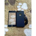 PC พร้อมกระจกสี(มีสายห้อยคอ) iphone7 plus/iphone8 plus(ใช้เคสตัวเดียวกัน) สีดำ