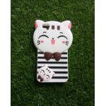 ซิลิโคนแมวนำโชค(ใหม่) Oppo A77(F3) สีขาว