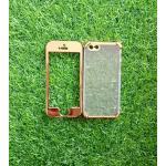 TPU ประกบหน้าหลังโครเมี่ยม iphone5/5s/se สีทอง
