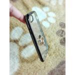 Tpu ขอบเพชร (มีเเหวน) iPhone7/iphone8(ใช้เคสตัวเดียวกัน) สีดำ