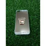 Tpu โครเมี่ยมประดับเพชรหัวท้าย(มีแหวน) iPhone7 plus สีRose Gold
