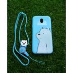 TPU moomin พร้อมสาย J7 Pro ลายหมีขาวสีฟ้า