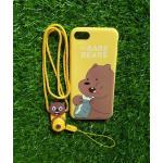 TPU moomin พร้อมสาย iphone7/iphone8(ใช้เคสตัวเดียวกัน) ลายหมีน้ำตาลสีเหลือง