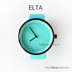นาฬิกาข้อมือรุ่น ELTA หน้าปัดมิ้นท์-สายสีมิ้นท์