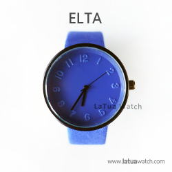 นาฬิกาข้อมือรุ่น ELTA หน้าปัดน้ำเงิน-สายสีน้ำเงิน