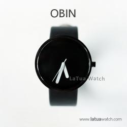 นาฬิกาข้อมือ รุ่น Obin หน้าปัดสีดำ Minimal Watch