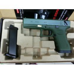 New.WE Glock18C T3 เซมิ-ออโต้ สไลด์เขียว เฟรมเขียว ท่อดำ ราคาพิเศษ