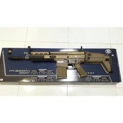 New.Cybergun FN SCAR-H MK17 GBB Rifle (Tan) Product Brand: Cybergun Product Code: CY-200550 Hop-Up: ADJUSTABLE Weight: 4,344 g Length: 625 mm Capacity: 24 rds Power: 430 fps Power Source: Green Gas / Top Gas Blowback: YES Shooting Mode: Semi Auto / Full A