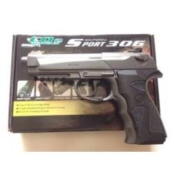 New.Wingun Sport 306 Co2. สีดำ Power (Muzzle Velocity) 350 FPS (CO2 Gas) ราคาพิเศษ