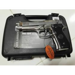 New.สินค้ามาใหม่ครับ ปืนสั้น HFC HG M92SV ออโต้ มาพร้อมกล่องปืน สีเงิน ราคาพิเศษ